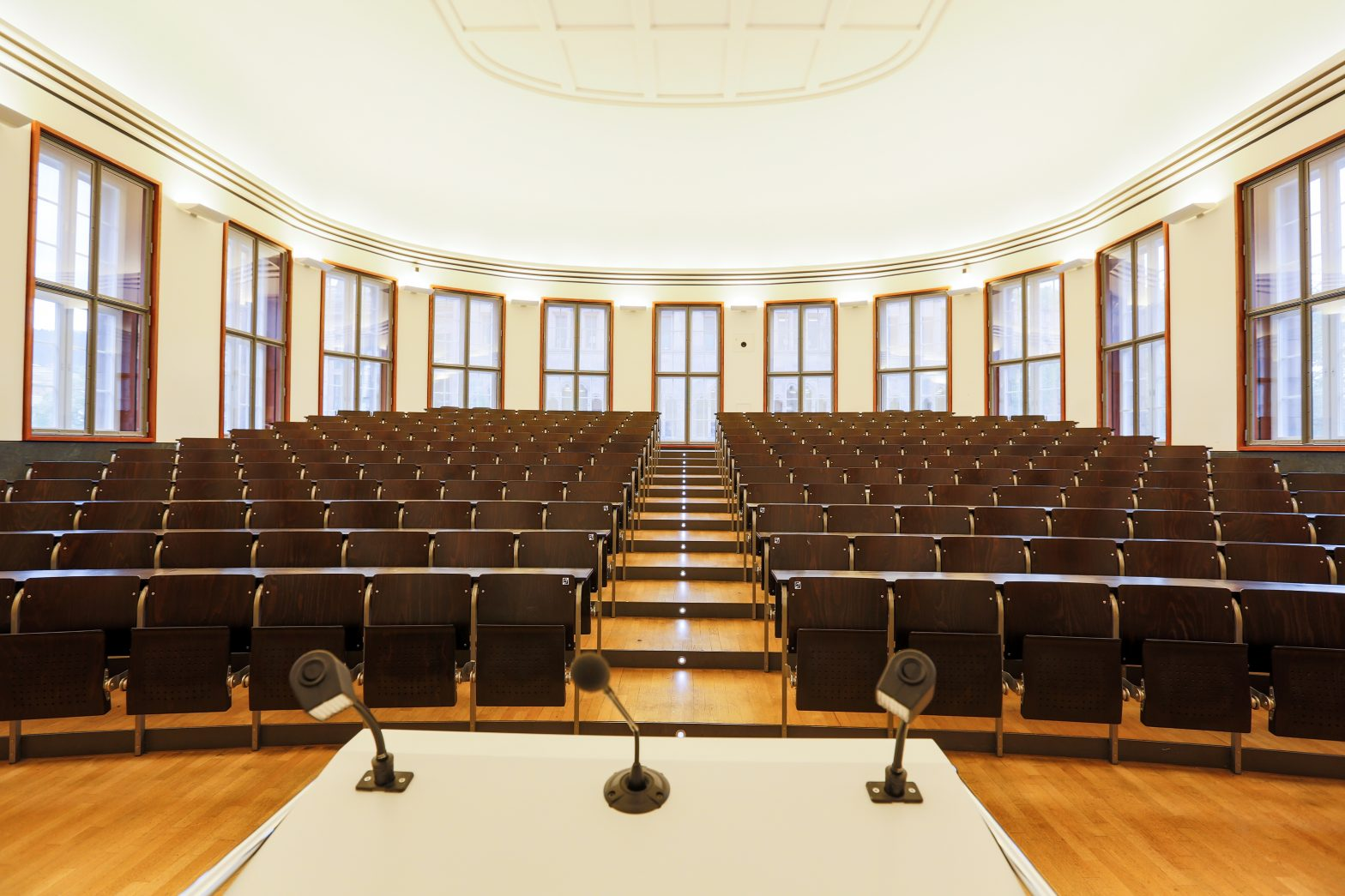 Lecture hall at the university of Freiburg