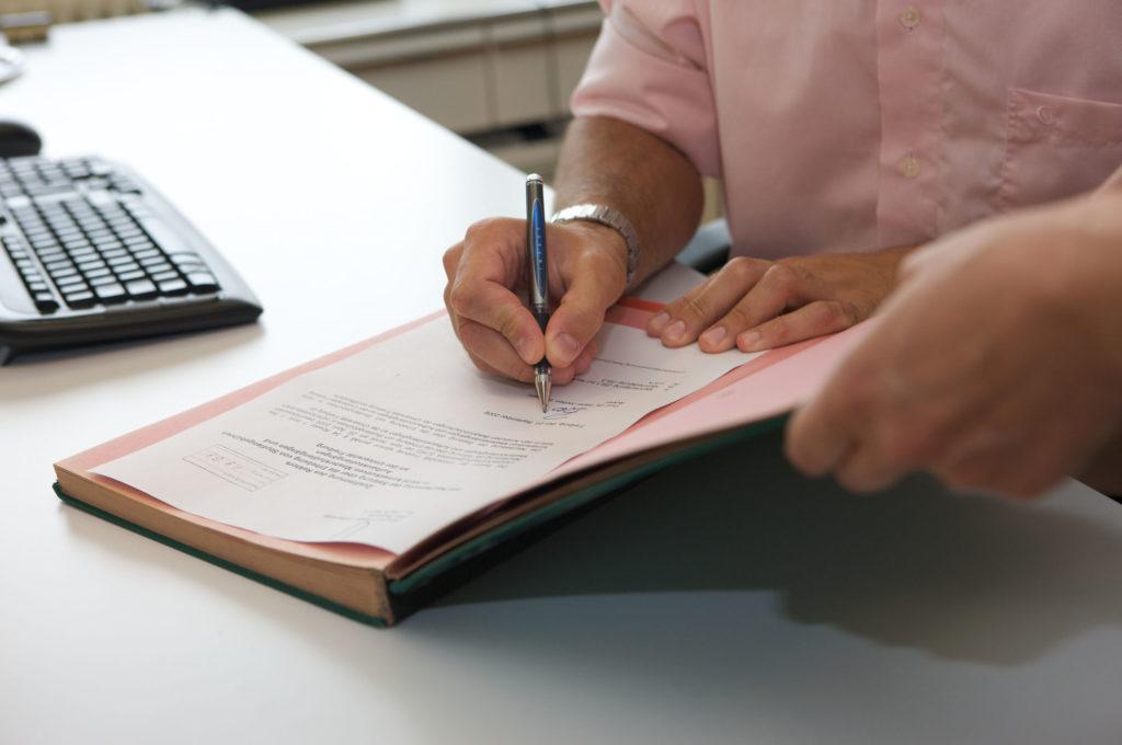 Unterschriftenmappe