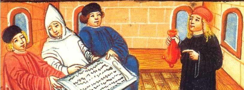 Statutenbuch Collegium Sapientiae Abbildung Zeichnung