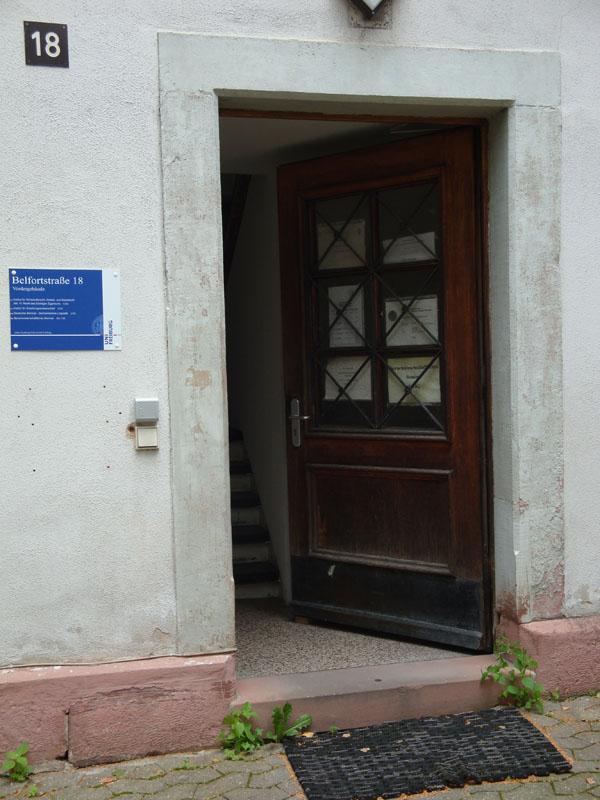 Eingang Belfortstr. 18