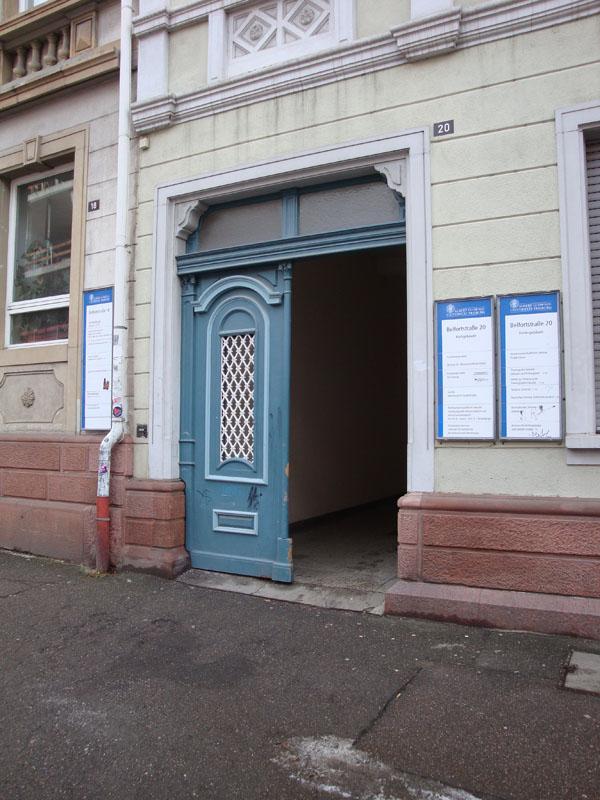 Eingang Belfortstr. 20