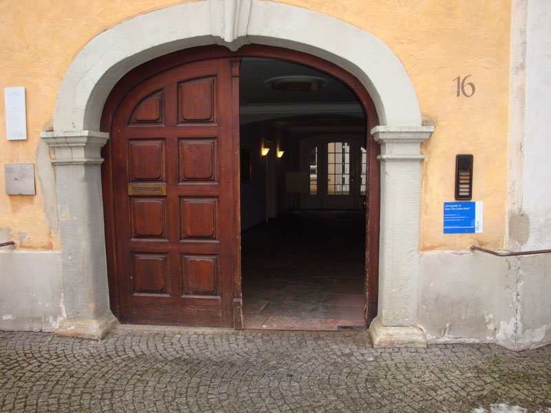 Eingang Haus zur lieben Hand