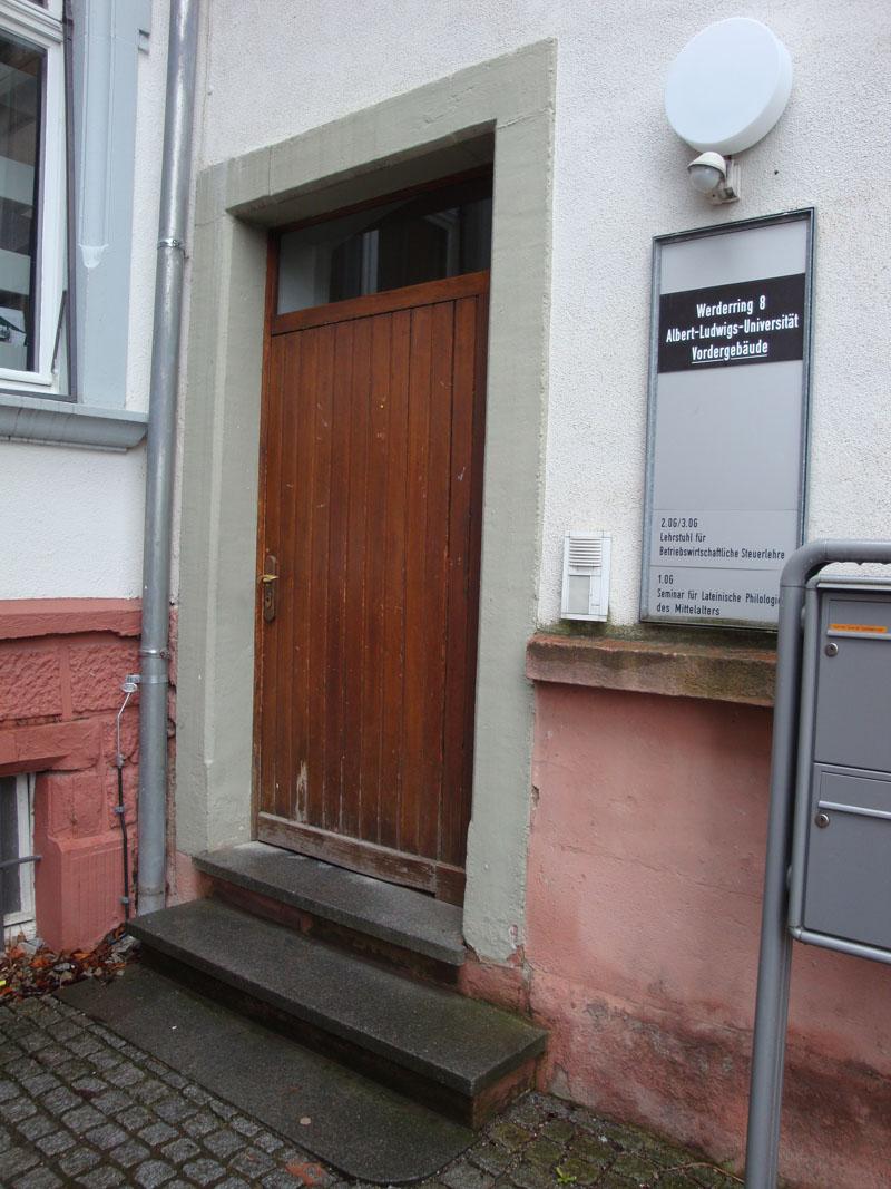 Eingang Werthmannstr. 8